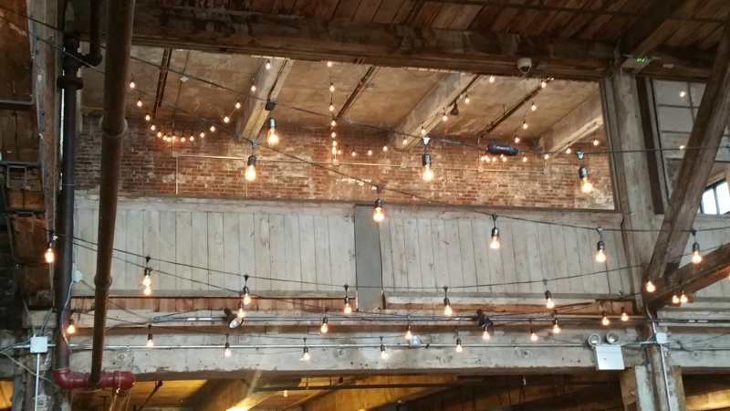 String Lights For Events : Universal Light and Sound - Recent Events: String Lights w/ Ceremony Backdrop - The Greenpoint ...