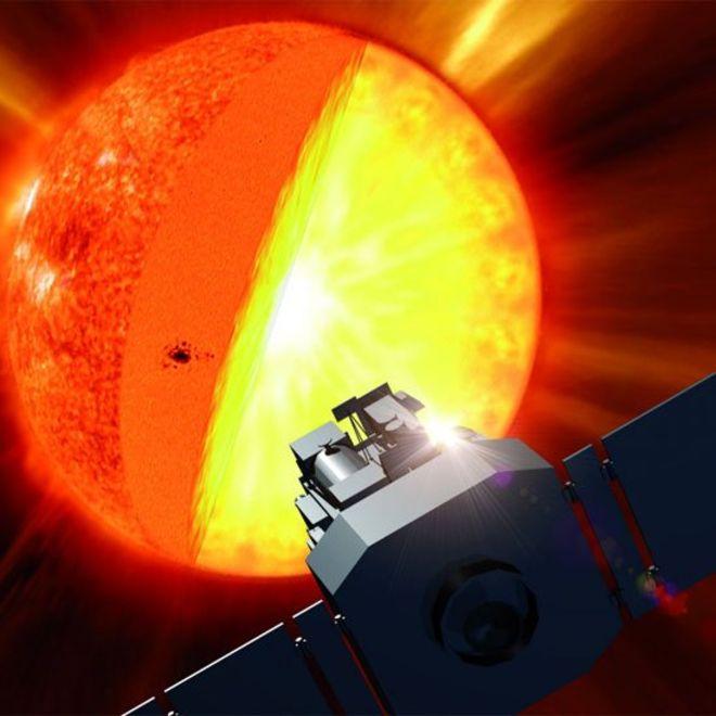 O núcleo do Sol gira mais rápido do que sua superfície