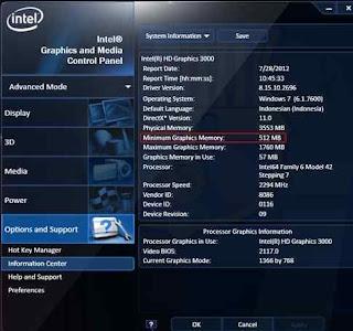 Trik Cara Tambah VRAM Intel HD Untuk Main Game Berat