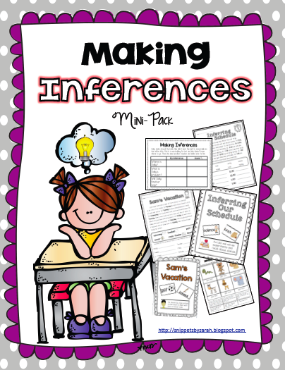 Sarah's First Grade Snippets: Making Inferences