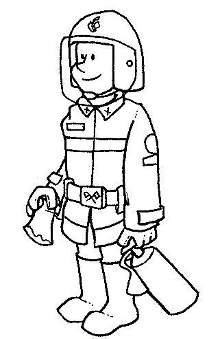 People And Jobs Coloring Pages For Kids: Various Jobs