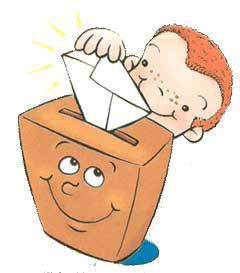 Niño votando