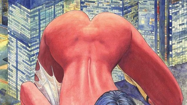 Spider-Woman's butt exposed in new variant cover issued by Marvel Comics.