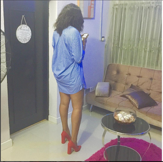 See The Thigh-Revealing Mini Gown Actress Ebube Nwagbo Rocks Today