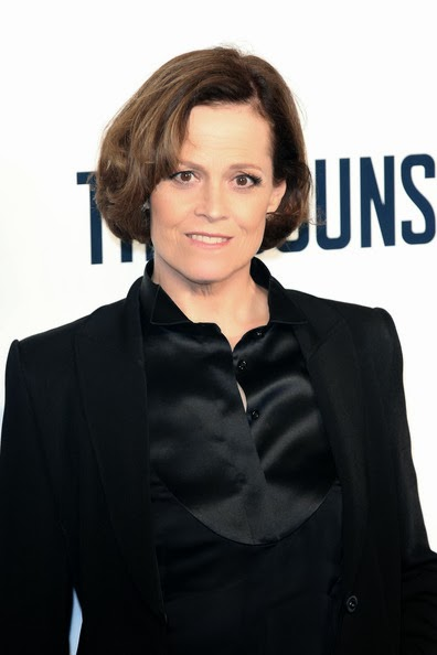 Sigourney Weaver Black Satin Blouse Under Suit Satin