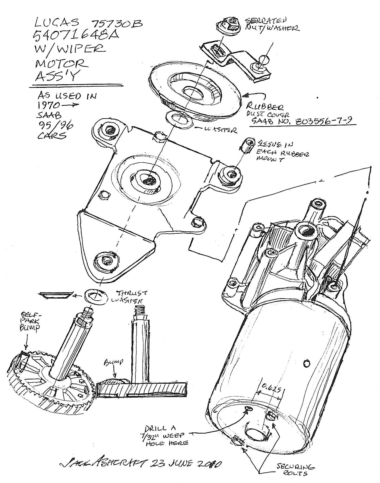 SAAB JOURNAL: SAAB WIPER MOTOR 3RD SERIES