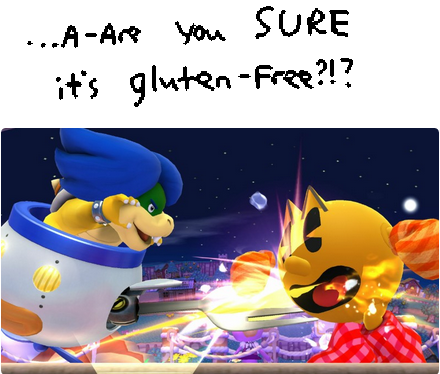 Is Pac-Man a gluten free pizza? Super Smash Bros. For Wii U