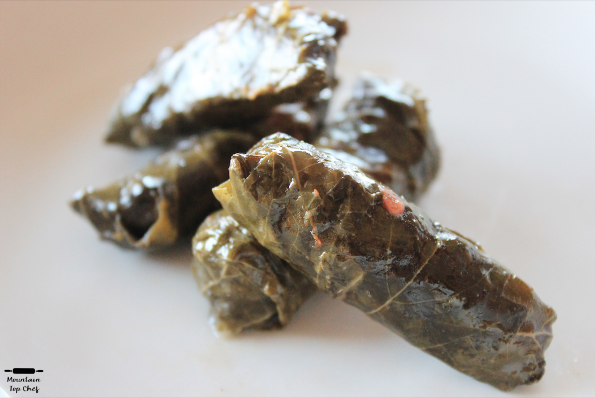 Stuffed Grape Leaves / محشي ورق عنب | www.mountaintopchef.blogspot.com