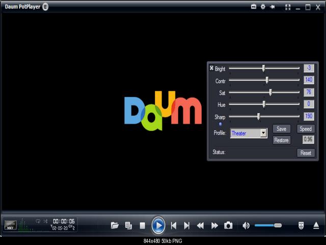 الفيديو Daum PotPlayer 1.7.7150 برنامج