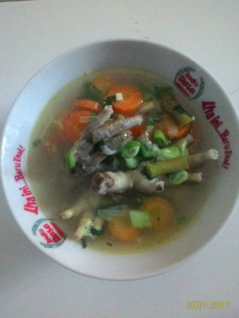 Resep sup ceker presto ala rumah makan ciwidey
