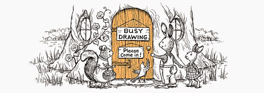 Busy Drawing Illustration Blog