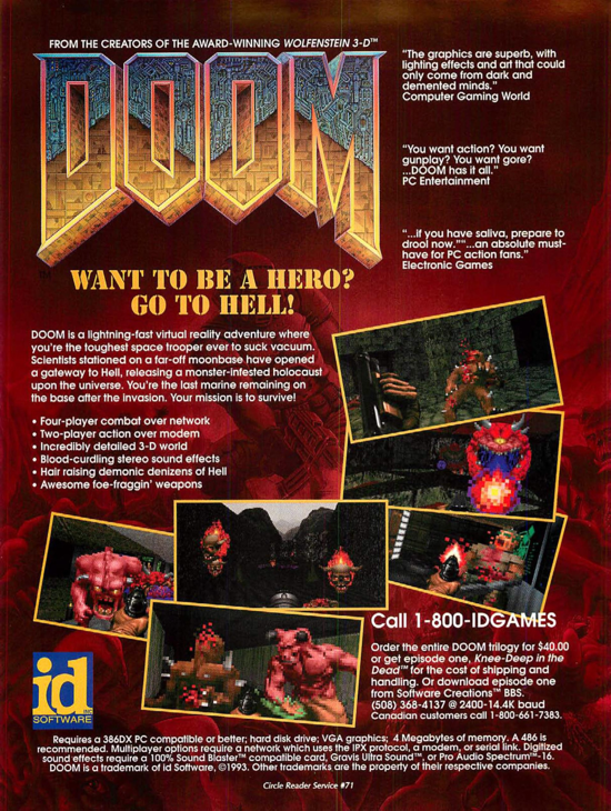 DOOM 1994 advertising