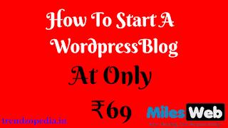 how to start a wordpress blog, 2019, blog, wordpress hosting, milesweb,