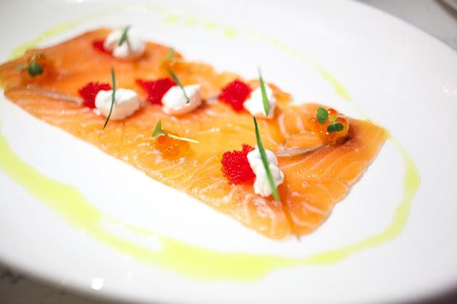 Salmon Crudo makes for a great starter at IL DESCO