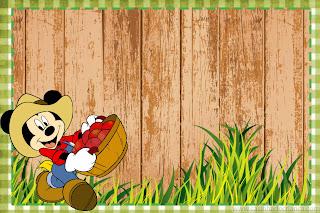 convite Kit Festa Fazendinha do Mickey