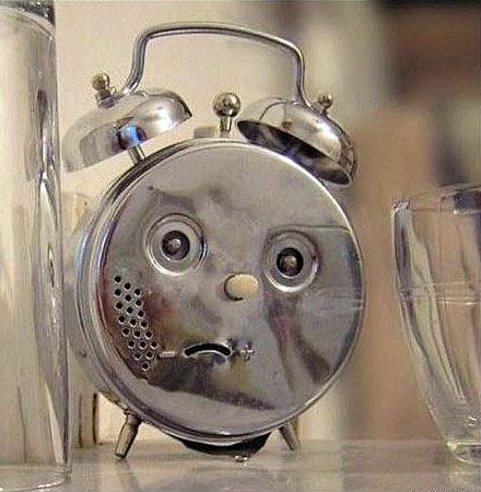 Witzige Spass Bilder Wecker mit Gesicht