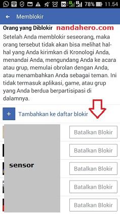 cari teman di facebook lewat nama, batalkan teman yang diblokir