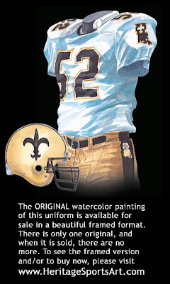 New Orleans Saints 1987 uniform