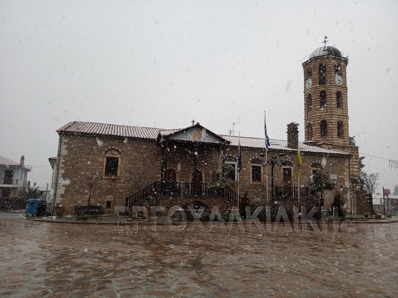 Έντονες βροχοπτώσεις και χιόνι πλήττουν την Χαλκιδική (ΦΩΤΟ)