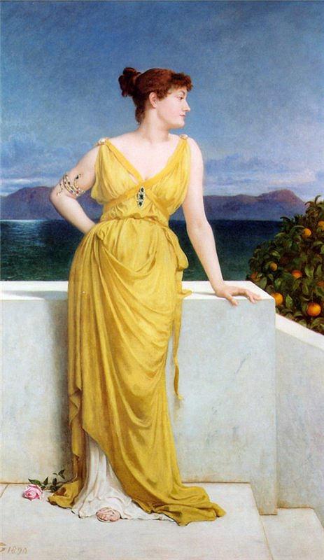 Frederick Goodall Миссис Чарльз Кеттлуэлл в неоклассическом платье