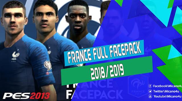 PES 2013 FRANCE FULL FACEPACK 2018/2019