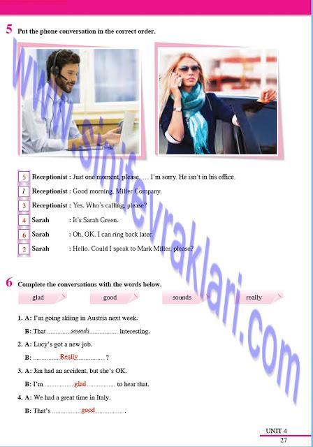 8. Sınıf İngilizce Çalışma Kitabı Cevapları Tutku Yayınları Sayfa 27