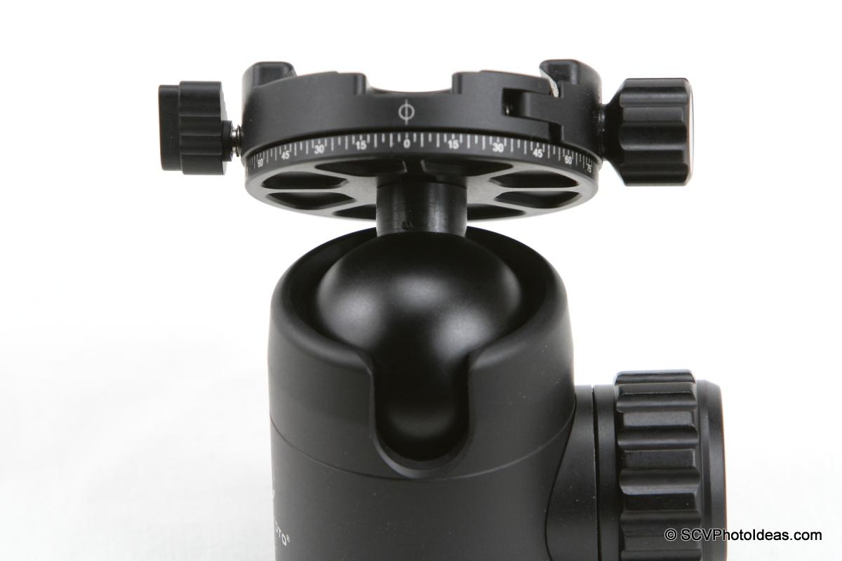 Sunwayfoto FB-36DDH Ball Head ball and drop notch detail
