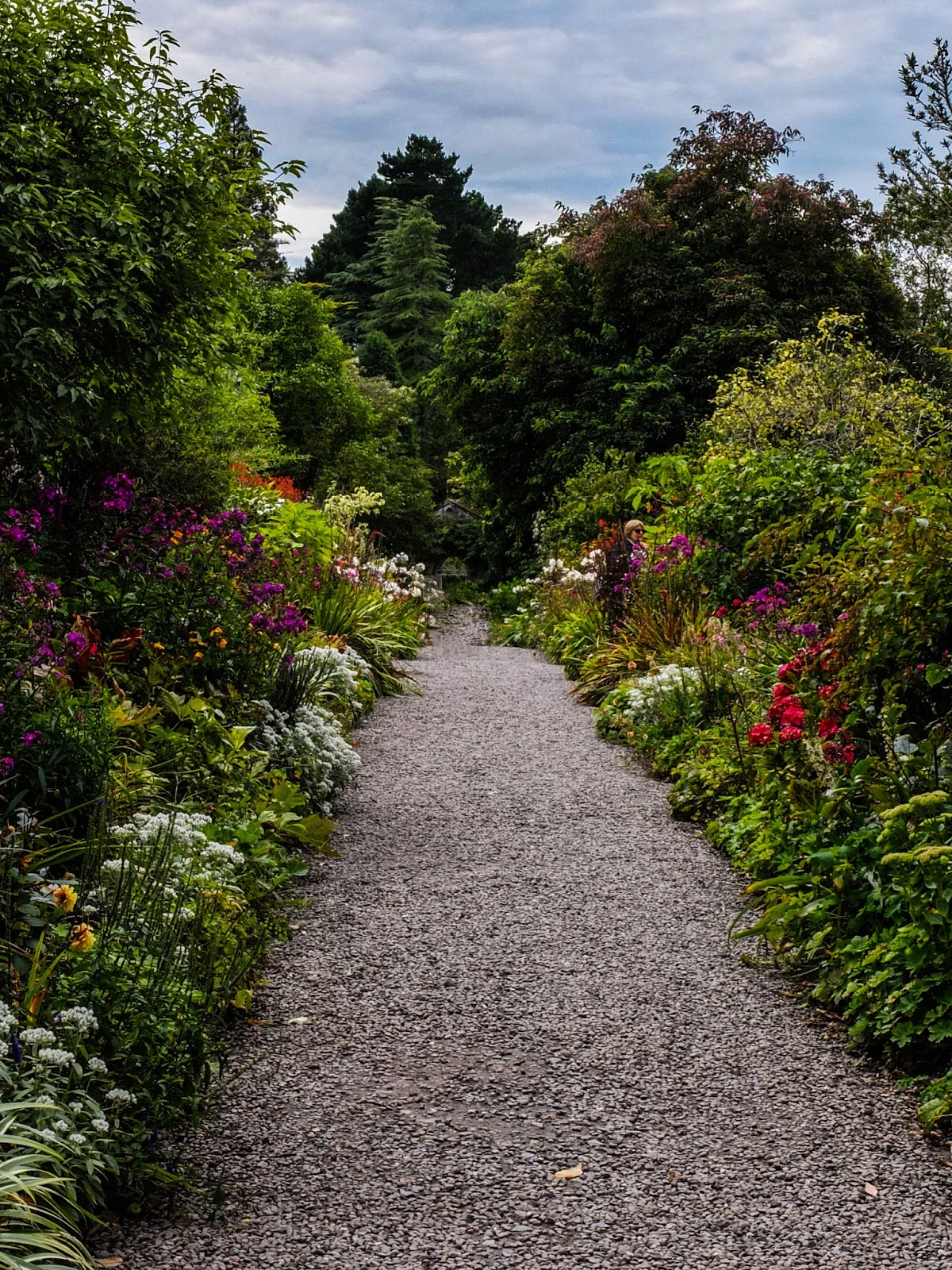 A pathway in the gardens on Garnish Island in Bantry Bay.
