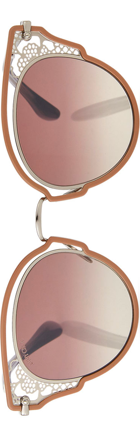 Jimmy Choo Dhelias Filigree Stainless Steel Round Sunglasses