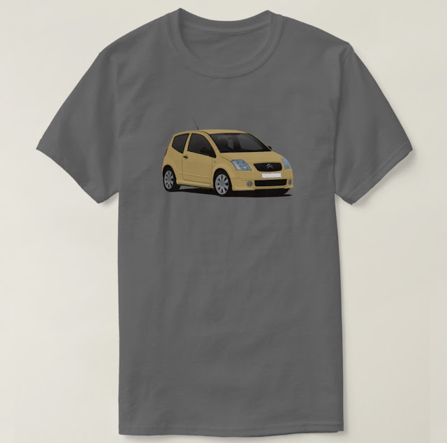 Citroën C2 VTR yellow T-shirt