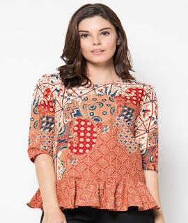 model baju batik atasan terbaru