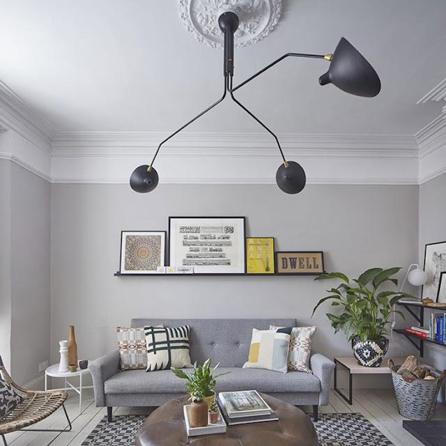 Amenajare în gri, mobilier rustic și accente vintage într-o casă din Essex