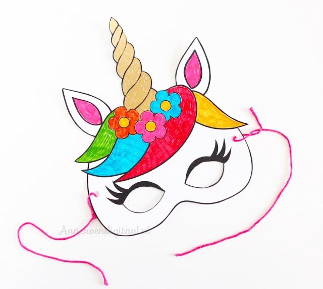 Eenhoorn masker printable, eenhoorn feestje, eenhoorn masker maken, gratis eenhoorn printable, eenhoorn masker printen, eenhoorn kleurplaat printen, hoe maak ik een eenhoorn masker, feestje in eenhoorn thema, feestje eenhoorn