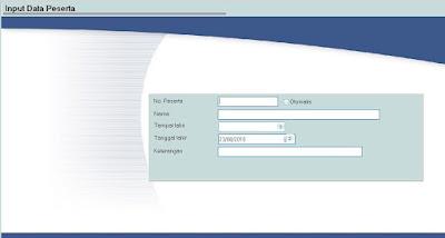 Form Input Peserta Aplikasi Pembuatan Sertifikat