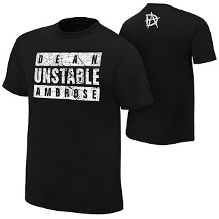 WWE Dean Ambrose merchandise shirts parental advisory