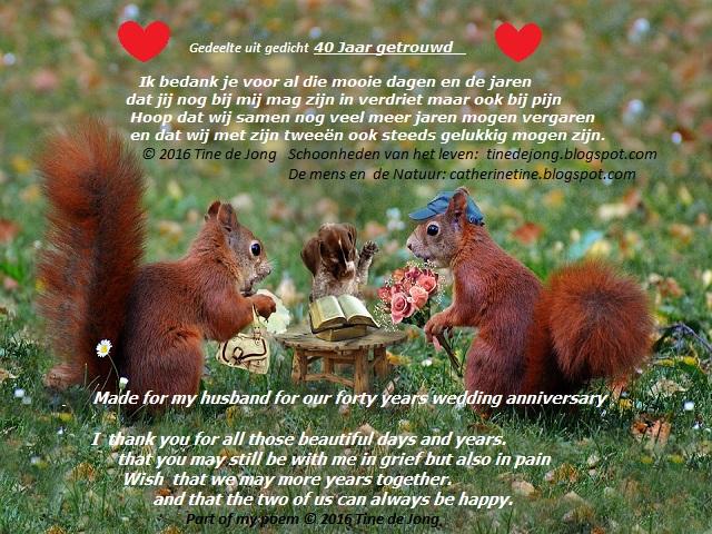 Tekst Voor 40 Jarig Huwelijk