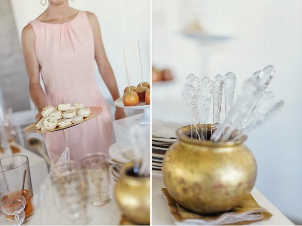 Ideas para Fin de Año. Rosa y Dorado.