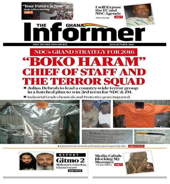 NDC Boko Haram Chief of Staff & the Terror Squad Plan to win 2016 election