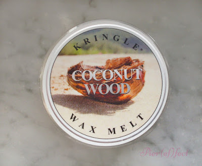 Kringle candle tart wax melt Coconut wood recensione