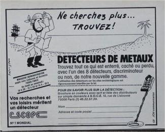 ACCUEIL DETECTEURS DE METAUX C-SCOPE, détecteurs métaux vintage, vintage métal detector, détecteurs de métaux anciens, old métal detector