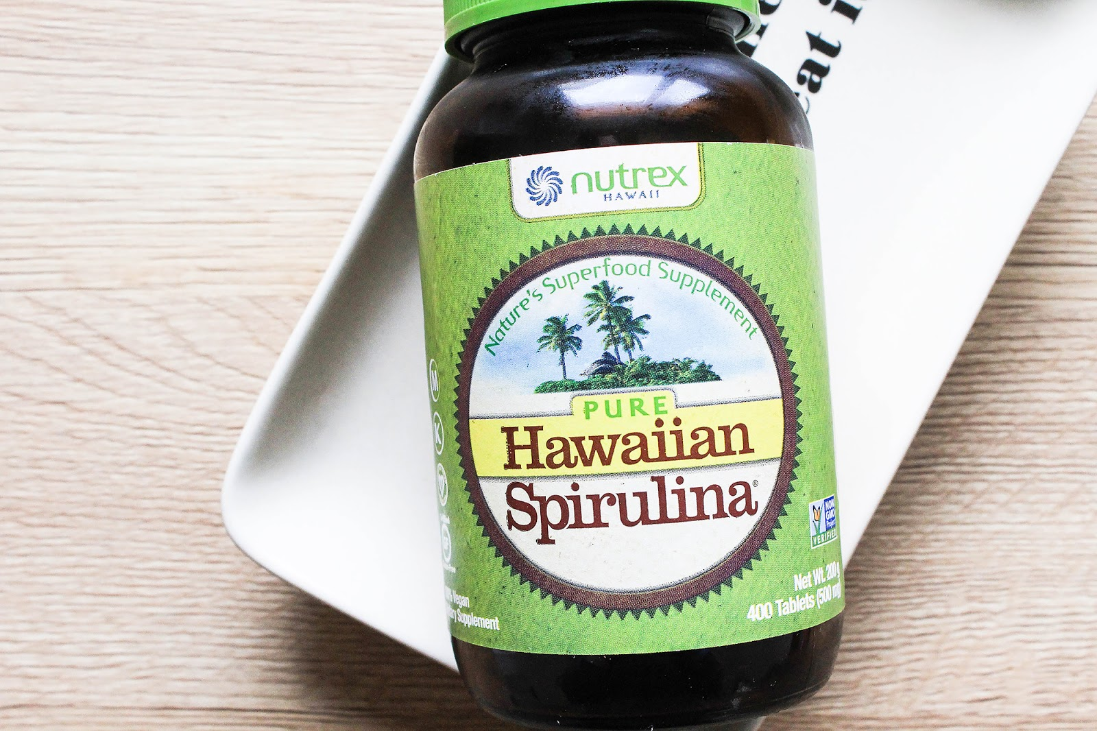 Nutrex Hawaii Pure Hawaiian Spirulina. Vegan, Non-GMO, Gluten Free.