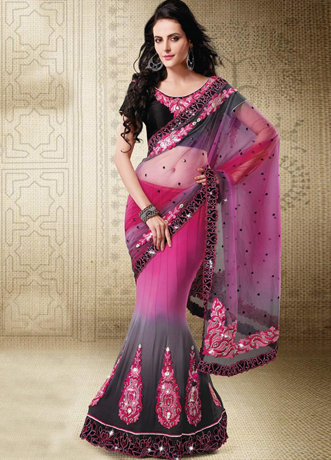 foto baju sari india modern