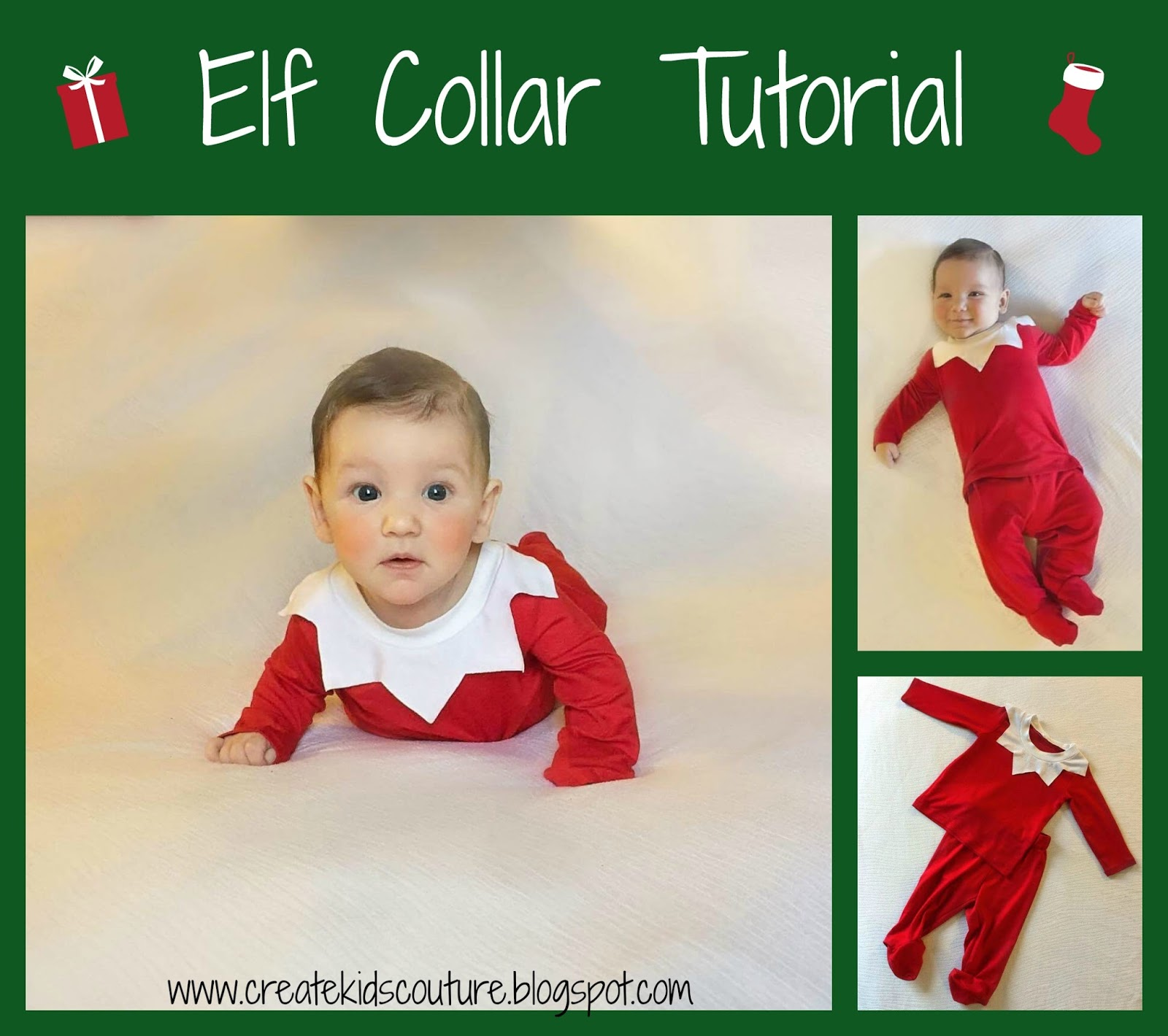 create kids couture 8th day of christmas elf collar tutorial