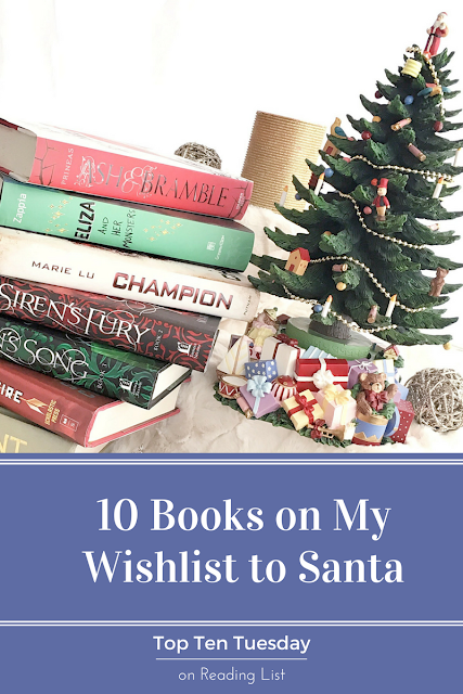 Top Ten Tuesday - My Wishlist for Santa on Reading List