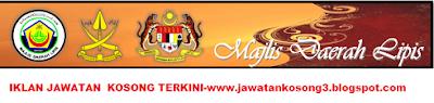 Jawatan Kosong terkini Majlis Daerah Lipis