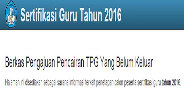 TPG Triwulan III Anda Tidak Cair
