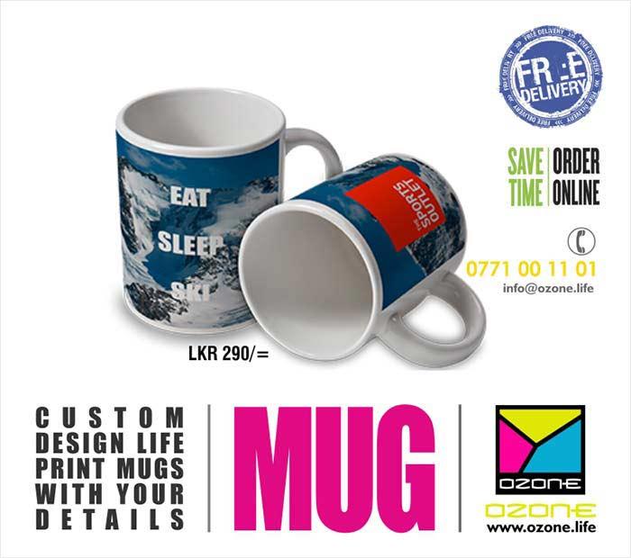Custom Designed MUGs with life time print.