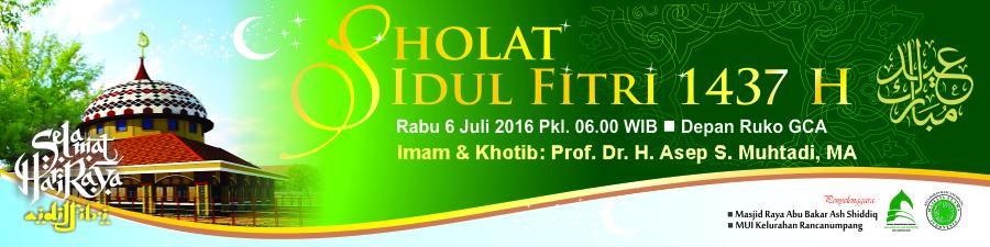 Dkm Abu Bakar Ash Shiddiq Gelar Shalat Idul Fitri H