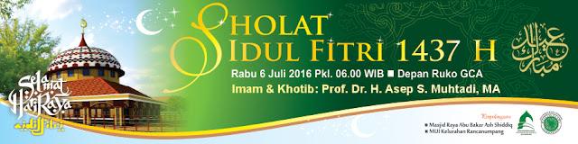 DKM Abu Bakar Ash-Shiddiq Gelar Shalat Idul Fitri 1437 H