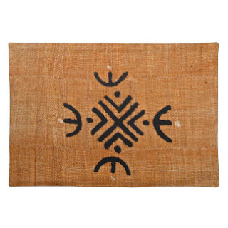 Mud cloth print place mat